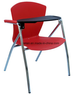 Multifuntion Plastic and Metal Vistor Chair with Tablet for Option (LL-0032) pictures & photos