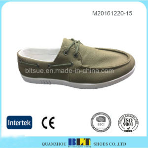 Men′s Canvas Shoes Easy Lace-up Closure PVC Outsole pictures & photos