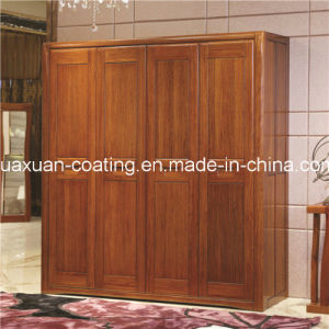 Huaxuan Wooden Furniture Paint UV Laser Roller Painting Glossy White Top Coat pictures & photos