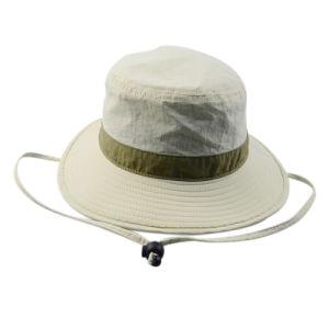 Custom Fishing Cap Man Bucket Hat Wide Brim Safari Hat pictures & photos