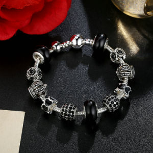 Trendy Charm Bracelet & Crown Black Murano Beads pictures & photos