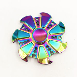 Rainbow Metal Fidget Finger Hand Spinner for Anxiety Stress Adults pictures & photos