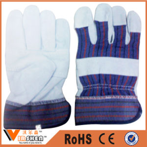 Heavy Duty Double Palm Cow Leather Work Gloves Indonesia pictures & photos