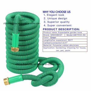 Economic Cold Resistant 50 FT Flexible Expandable Garden Hose pictures & photos