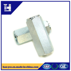 Hexagon Coupling Galvanized Steel Lock Slotted Nut pictures & photos