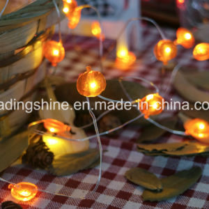 Pumpkin Shape LED Silver Wire 2AA Battery Operated String Light Chain for Indoor Decor pictures & photos