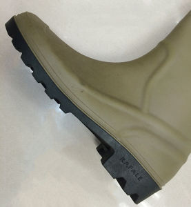 South American Market PVC Rain Boots (Shallow green upper/Black Sole) pictures & photos