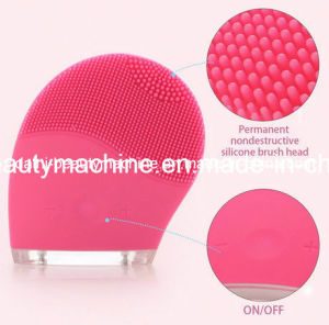 Ultrasonic Delicate Skin Electric Face Deeply Cleanser Vibrate Silicone Cleansing Brush Massager Waterproof Facial SPA Massage pictures & photos