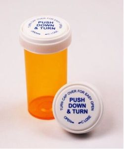 Plastic Reversible Vials or Pill Bottles or DRAM Vials with a Child Resistant Cap pictures & photos