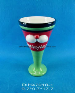 Hand-Painted Ceramic Wine Cup for Christmas Decoration pictures & photos
