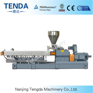 Tsh-65 Masterbatch Plastic Parallel Twin Screw Extruder Production Line pictures & photos