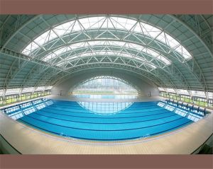 Prefab Steel Space Frame for Swimming Pool Roof Covering pictures & photos