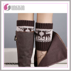 Winter Europe Spelled Color Elk Leg Warmers Foot Knitted Socks pictures & photos