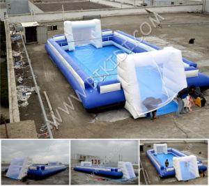 Newest Inflatable Football Pitch, Portable Football Field, Inflatable Football Arena for Sale B6069 pictures & photos
