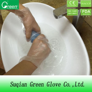 Clear Cheap Household Stretch Poly Glove pictures & photos