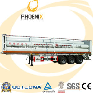 Tri-Axle LPG CNG Compressed Natural Gas Container Trailer with Fuwa Axle pictures & photos