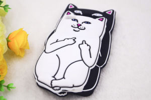 3D Cartoon Cat Silicone Phone Case for iPhone 6s 6plus 7 7plus Huawei P8 P8lite P9cover (XSDW-010) pictures & photos