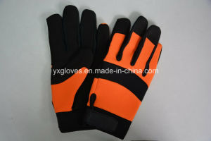 Mechanic Glove-Hand Glove-Cheap Glove-Work Glove-Leather Glove pictures & photos