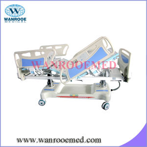 Bae501 Electric Column Structure Hospital Bed with Weight Scale pictures & photos