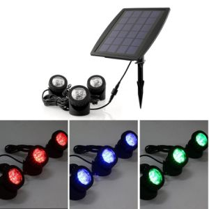 Color Changing Solar Powered RGB LED Lamp Landscape Spotlight Fish Tank Light pictures & photos