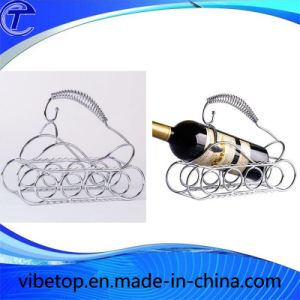 Wholesale Unique Metal Wine Bottle Display Rack pictures & photos