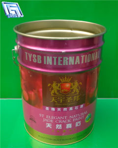 20L Tinplate Metal Pail with Lids, for Paint, Oil, Water, Chemical Use, Eco-Friendly