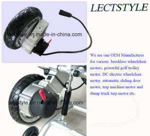 24V 120rpm Lightweight Power Brushless Wheelchair Hub Motor with Controller & Joystick Lever pictures & photos