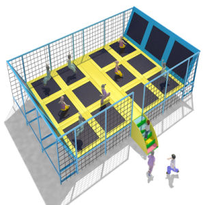 Indoor Playground with Plastic Slides Trampoline and Ball Pools pictures & photos