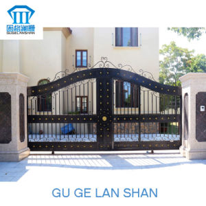 High Quality Crafted Wrought Iron Gate for Double-Open (A1-016) pictures & photos