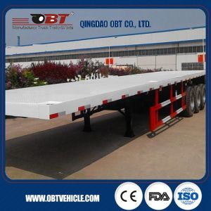 Flatbed Semi Trailer Container Semi-Trailer pictures & photos