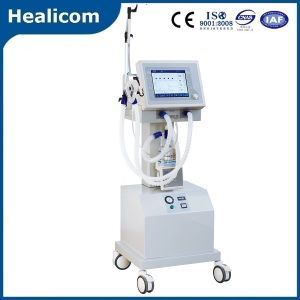 China Factory Breathing Machine Medical ICU Ventilator with Air Compressor pictures & photos