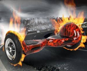 "Koowheel 10"" Red Flame Electric Scooter Two-Wheel Self Balancing Air Board Skateboard pictures & photos"