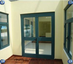 Tempered Glass Interior Aluminum Casement Door pictures & photos