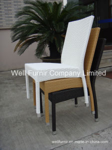 Stackatable Chair/Patio Chair/Dining Chair/White Chair/Rattan Armless Chair pictures & photos