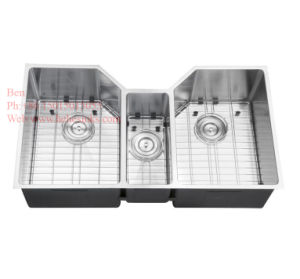 Stainless Steel Under Mount Triple Bowl Kitchen Sink pictures & photos