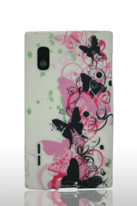 Coulorful Flower Design Mobile Phone Waterprinted TPU Case for Samsung Galaxy S I9100 pictures & photos