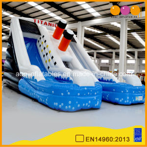 Best Quality Commercial Inflatable Double Lane Slide with Climbing (aq1110) pictures & photos