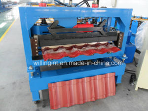 Ce Color Coated Steel Tile Roof Roll Forming Machine pictures & photos