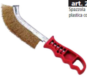 Short Red Plastic Handle Wire Brush pictures & photos