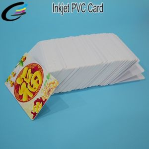 Factory Price White Glossy Inkjet Blank PVC ID Card for Epson Inkjet Printer with Coating pictures & photos