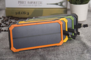 Facyory Orignal 12000mA Dual USB Solar Panel Mobile Power Bank