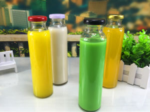 310ml Screw Cap Glass Bottle with Colorful Lids pictures & photos
