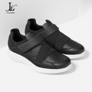 Black Health Leather Casual Shoes (CAS-030)