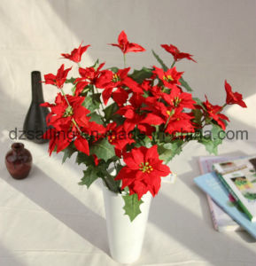 3 Color Poinsettia Flower for Christmas and Home Decoration (SF15964)