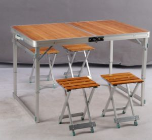 Aluminum Folding Table with Chair 110*70*70 (etc-130-12) pictures & photos