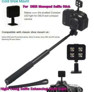 Portable External Sync Rechargeable LED Flash light with Line (OM-RK06) pictures & photos