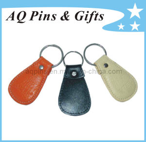 Leather Keychains with Debossed Logo pictures & photos
