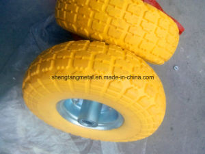 Hand Trolley PU Foamed Puncture Proof Wheel 3.50-4