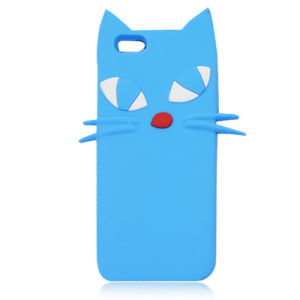 Cats Silicone Case for iPhone 6 5g Soft Cartoon Cover for Huawei P8 P9lite P8lite (XSDW-034)