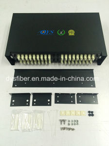 Obt-005 Fiber Optic Sliding 72core Black Patch Panel pictures & photos